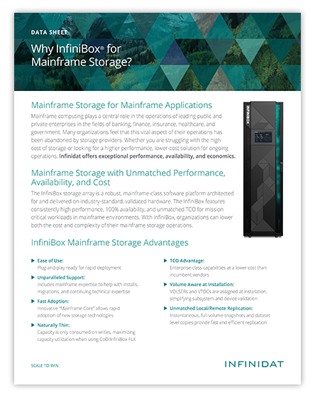 Why InfiniBox for Mainframe Storage?