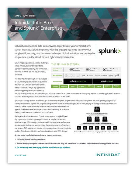 Infinidat InfiniBox and Splunk Enterprise